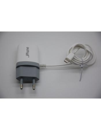 Зарядное устройство Iphone 5/5c/5s, евровилка 220В. Белый цвет