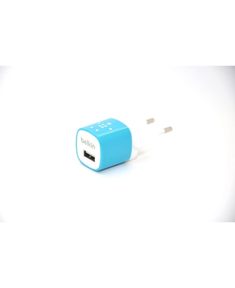 Зарядка Belkin для Iphone. Голубой цвет