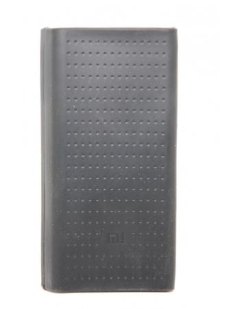 Силиконовый чехол Xiaomi Powerbank 10000 mah (version2). Черный цвет