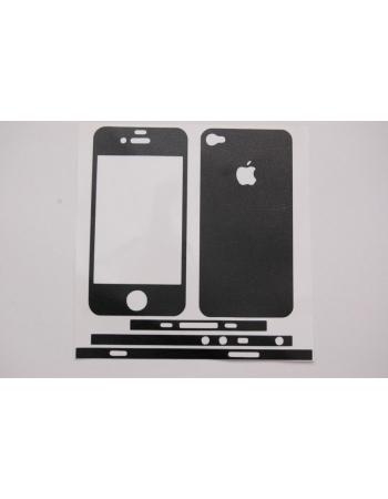 Кожаная наклейка для Iphone 4. Черный цвет