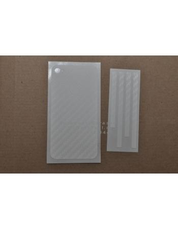 Карбоновая наклейка Iphone 4s. Белый цвет