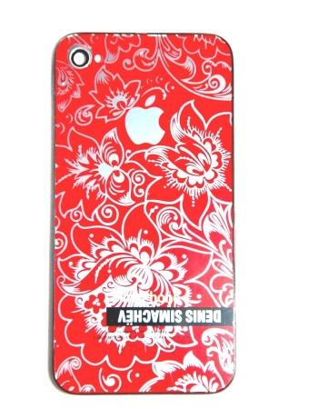 Крышка Iphone 4 Simachev. Красный цвет