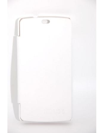 Кожаный чехол LG Nexus 5 Flip case. Белый цвет