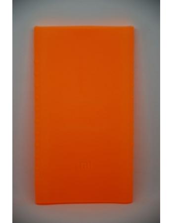 Силиконовый чехол Xiaomi Powerbank 10000 mah (version2). Оранжевый цвет