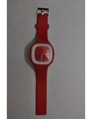 Силиконовые часы красный цвет