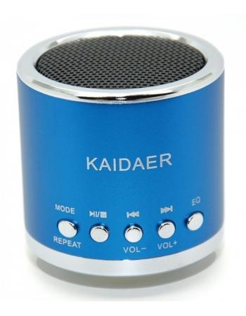 Портативная колонка-плеер Kaidaer. Голубой цвет