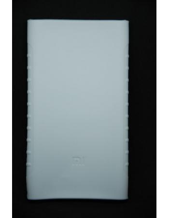 Силиконовый чехол Xiaomi Powerbank 10000 mah (version2). Белый цвет