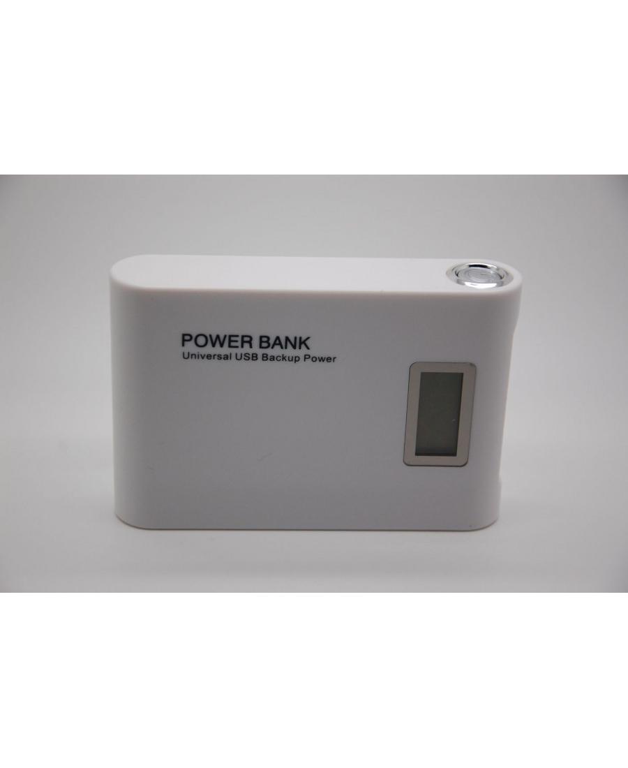 Аккумулятор Power Bank 12000 Mah HN-030 LED. Белый цвет