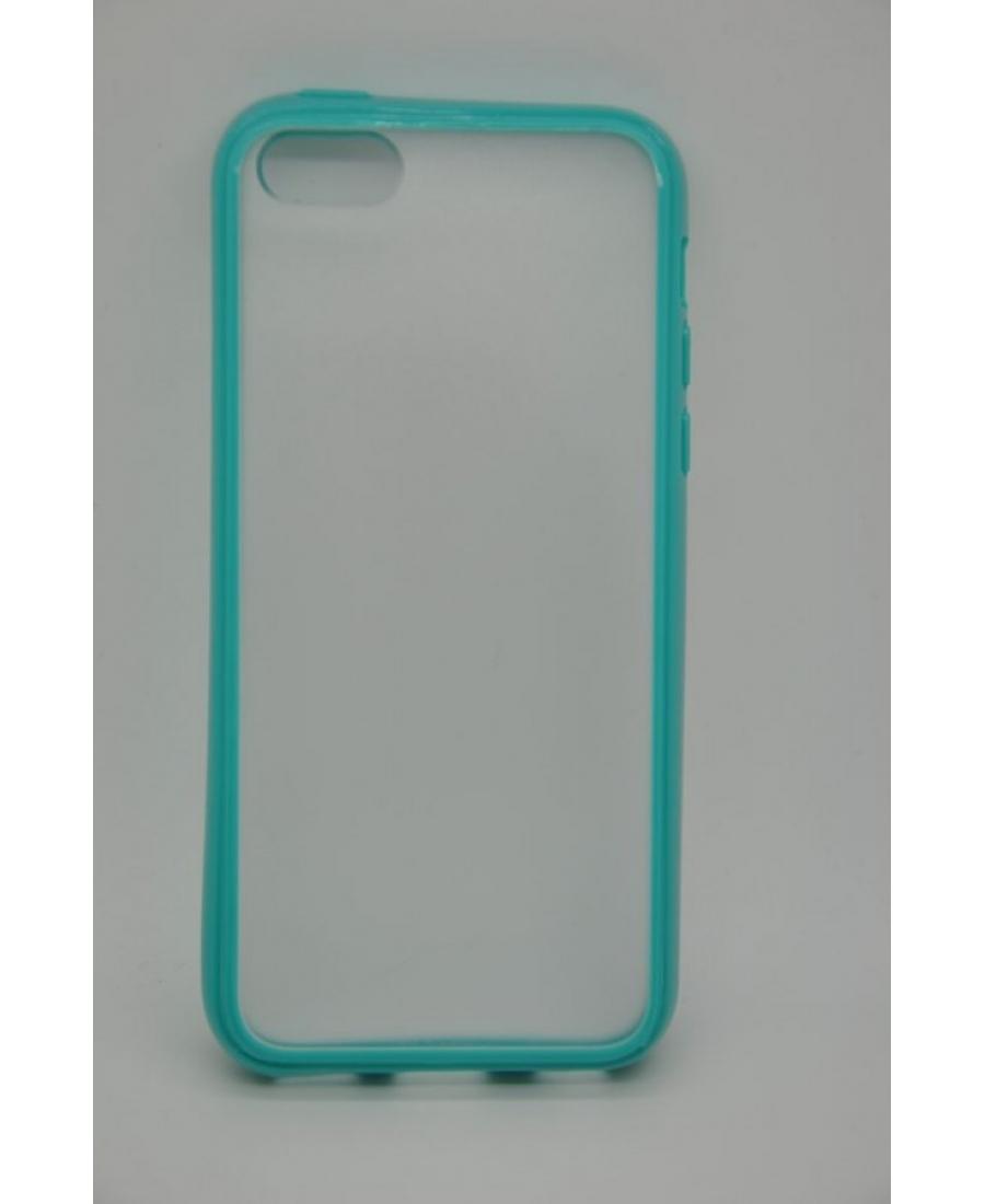 Гелевый чехол Iphone 5c. Голубой цвет