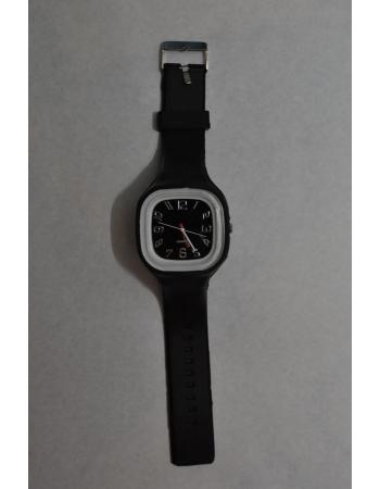 Силиконовые наручные часы. Черный цвет