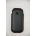 Оригинальный чехол для Blackberry 9100/9105. Гладкая кожа, Черный цвет