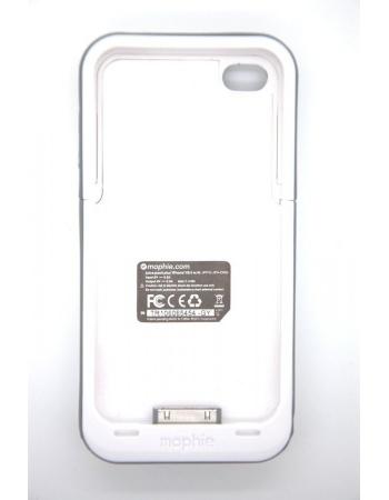 Чехол-аккумулятор для Iphone 4/4s Mophie Juice Pack. Белый цвет