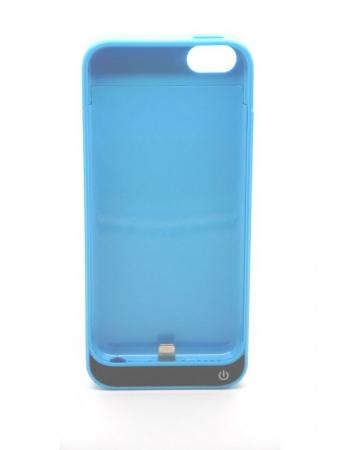 Чехол-аккумулятор iphone 5 5s 5c 2200 mah. Голубой цвет