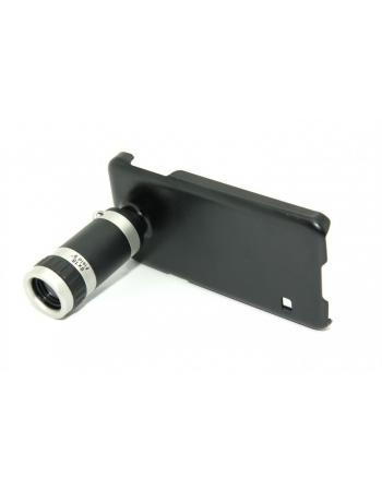 Комплект объектив 8х + чехол Samsung Galaxy S5. Черный цвет