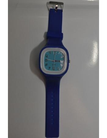 Силиконовые часы темно-синий цвет