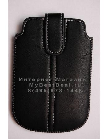 Чехол для Blackberry 9800 + пленка. Черный цвет