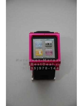 Браслет металлический Lunatik для ipod Nano 6. Розовый цвет