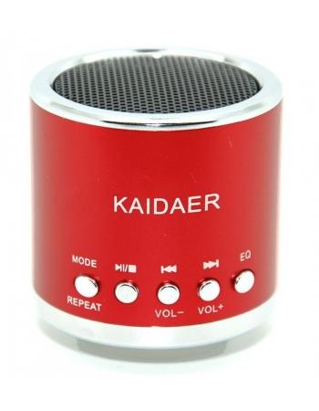 Портативная колонка-плеер Kaidaer. Красный цвет
