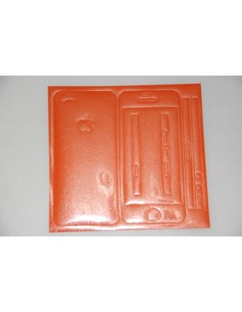 Виниловая наклейка Iphone 5, полный комплект. Оранжевый цвет