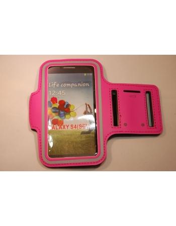 Спортивный чехол на руку Samsung Galaxy S4. Розовый цвет