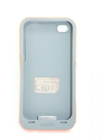 Чехол-аккумулятор для Iphone 4/4s Mophie Juice Pack. Серый+оранжевый цвет
