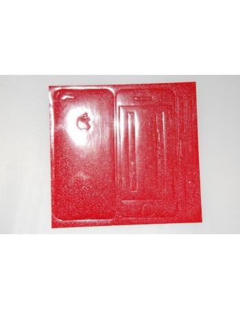 Виниловая наклейка Iphone 5, полный комплект. Красный цвет