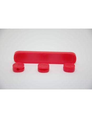 Держатель кабеля Baseus Peas Cable Clip. Красный цвет