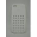 Силиконовый чехол Iphone 5c DOT. Белый цвет