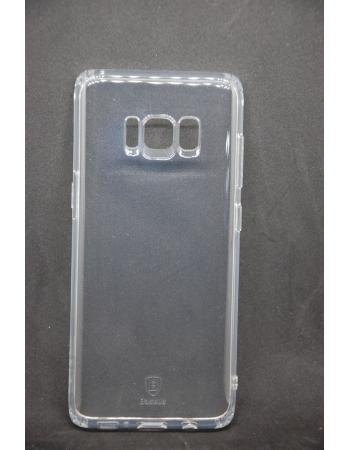 Силиконовый чехол Samsung Galaxy S8 пр-во Baseus. Прозрачный цвет