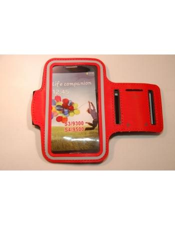 Спортивный чехол на руку Samsung Galaxy S4. Красный цвет