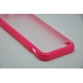 Гелевый чехол Iphone 5c. Ярко розовый цвет