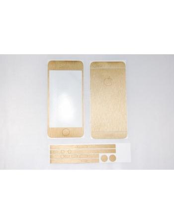 Наклейка Brushed Iphone 5. Золотой цвет. Комплект