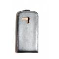 Кожаный чехол Samsung Galaxy S3 mini с Flip крышкой. Черный цвет