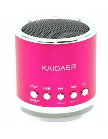 Портативная колонка-плеер Kaidaer. Розовый цвет