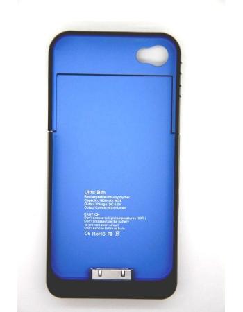 Чехол-аккумулятор для Iphone 4/4s, Ultra slim, 1900 Mah, черный