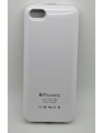 Чехол-аккумулятор Iphone 5c, 2800 Mah. Белый цвет