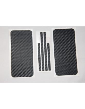 Карбоновая пленка Iphone 5. Черный цвет. Комплект