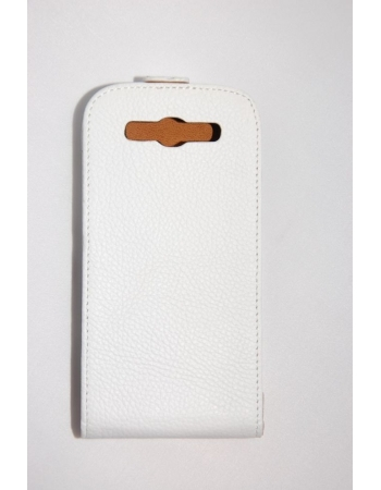 Кожаный чехол Samsung Galaxy S3. Белый цвет