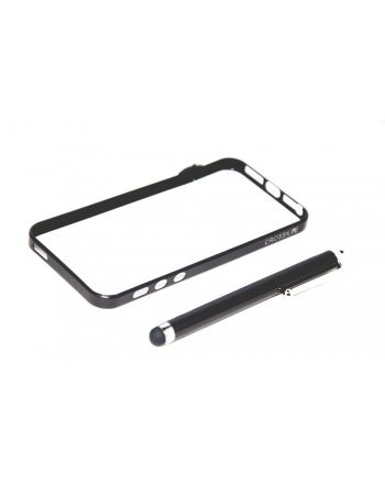 Алюминиевый чехол Iphone 5 Bumper. Черный цвет + стилус