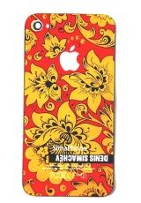 Крышка Iphone 4s Simachev. Желтый/красный цвет