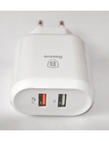 Зарядное устройство Baseus 23W (2 USB). Белый цвет