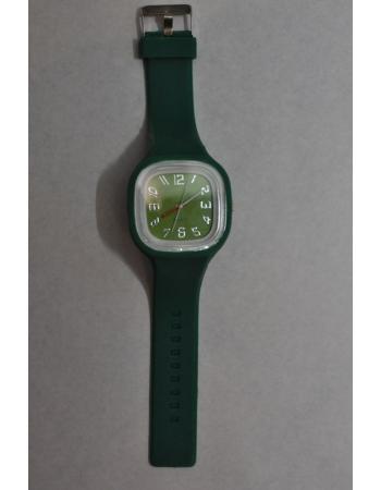 Силиконовые часы темно-зеленый цвет