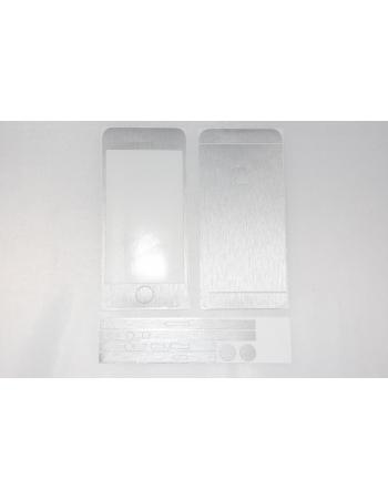 Наклейка Brushed Iphone 5. Серебристый цвет. Комплект