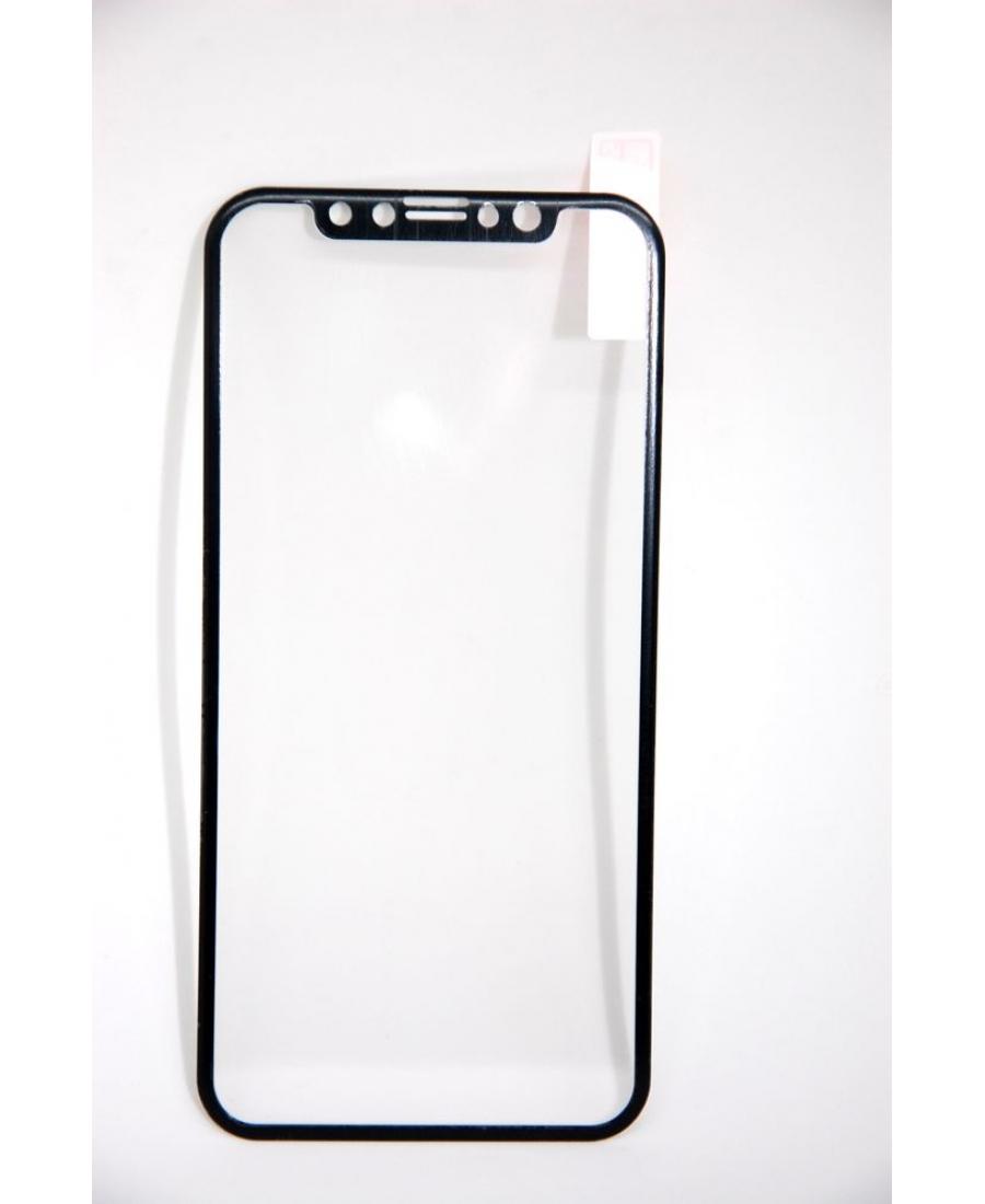 Защитное 3d стекло для iphone X. Черный цвет