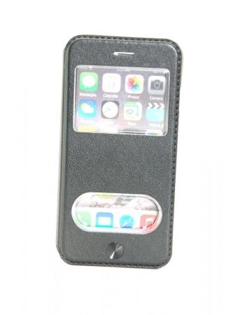 Кожаный чехол Iphone 6 (4.7) flip kalaixing. Черный цвет