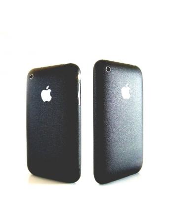 Карбоновая наклейка для Iphone 3G/3Gs. Черный матовый