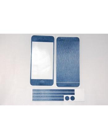 Наклейка Brushed Iphone 5. Голубой цвет. Комплект