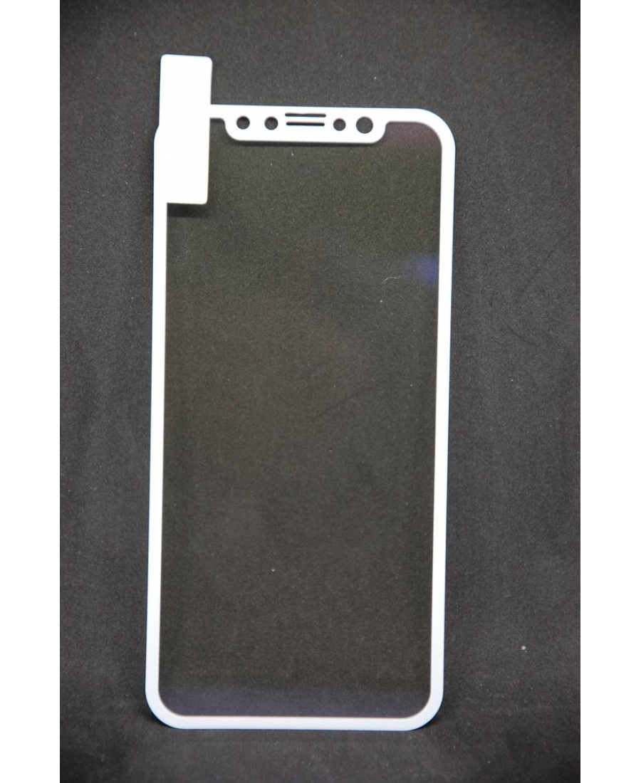 Защитное 3d стекло для iphone X. Серебристый цвет
