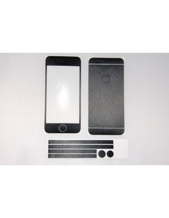 Наклейка Brushed Iphone 5. Черный цвет. Комплект