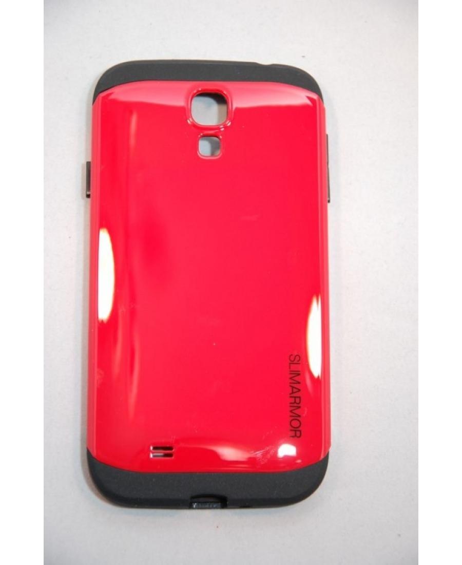 Чехол Samsung Galaxy S4 SLIM ARMOR SPIGEN. Красный цвет